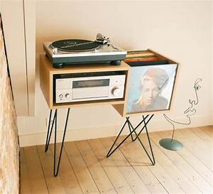 Meuble Pour Tourne Disque : 40 meubles pour ranger des vinyles ~ Teatrodelosmanantiales.com Idées de Décoration