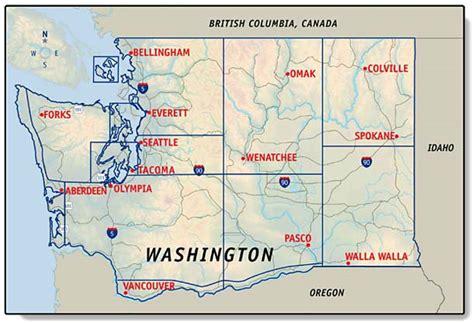 Washington Carte Et Image Satellite