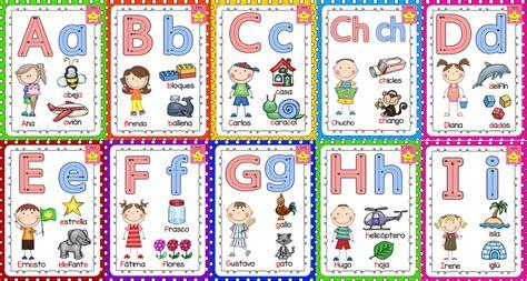nombre de generacion preescolar lindo abecedario con nombres propios ilustrado educaci 243 n
