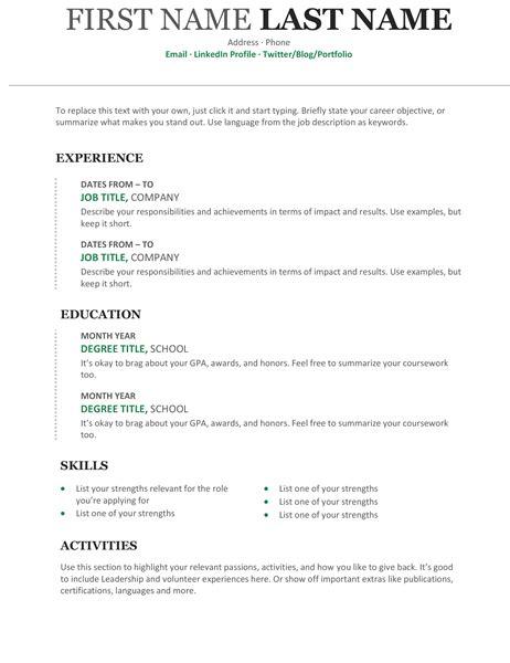 Chronological Resume Cv Modern Design by Chronological Resume Modern Design