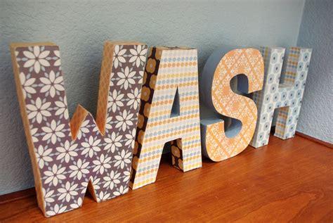 paper mache letter levelings