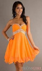 1000 ideas about Orange Prom Dresses on Pinterest
