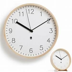 Horloge Murale Ou Poser Rimwood Umbra Absolument Design