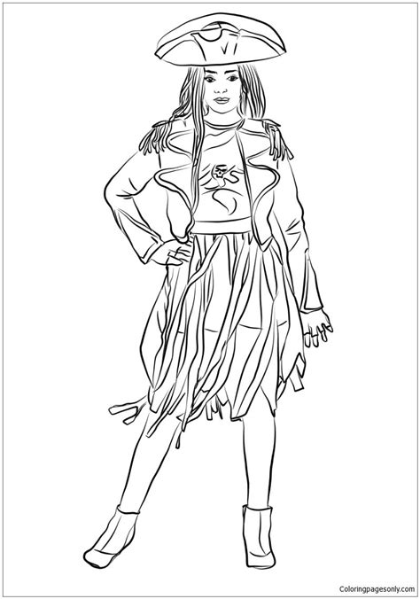 pin  coloring pages  descendants coloring pages