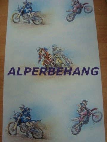 motor behang cros motor jongens behang blauw grijs 19 jongens behang