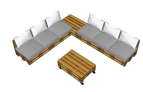 pallet bank bouwtekening loungeset pallets bouwtekeningen voor steigerhout