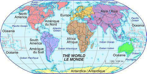 Carte Du Monde Continent Americain by Continents Du Monde Avec Pays Voyages Cartes