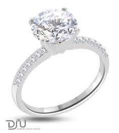 2 karat engagement ring 3 25 carat e si1 solitaire engagement ring set in 14 karat solid white gold