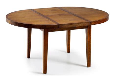 but table ronde table ronde en bois avec rallonge portefeuille collection mawan