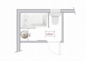 Plan Petite Salle De Bain : 4 plans pour l 39 agencement d 39 une salle de bains ~ Melissatoandfro.com Idées de Décoration