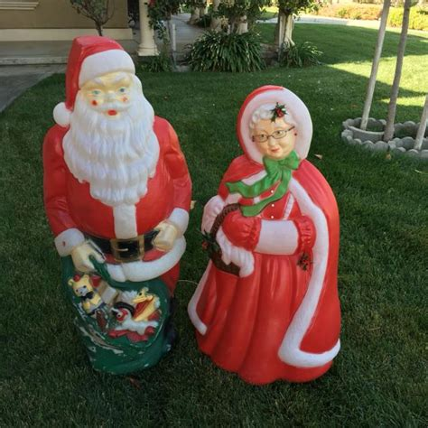 mrsclaus vintage outdoor plastic lighted blow