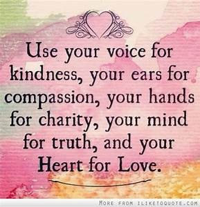 Love And Kindne... Kindness And Mercy Quotes