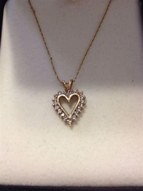 10K Diamond Heart Necklace Kay Jewelry NIB New Boxed 10KT