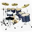 "Taye Pro X 5 Piece Fusion Drum Kit 22"" Bass Blue Satin ..."