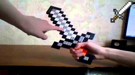(НАС 3000!) Обзор лего железного меча из Minecraft (rus