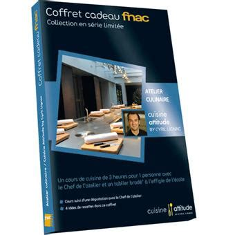 cuisine attitude lignac coffret cadeau fnac atelier adulte cuisine attitude cyril