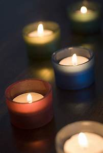 Photo, Of, Christmas, Candles