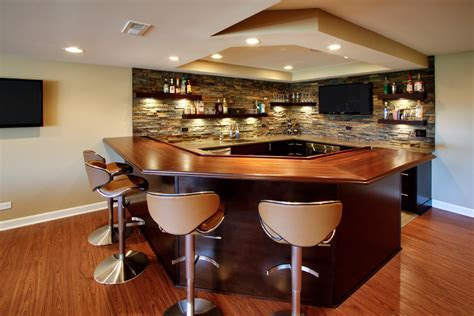 Home bar designs stone home bar contemporary with bar