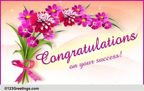 Such a congratulation message is drafted with joyful, praise worthy and appreciating wordings to congratulate & motivate the new business holder. Congratulations! Free Business & Workplace eCards ...