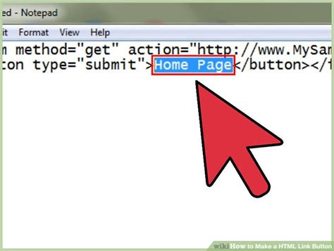 how to make a html link button 5 steps with pictures