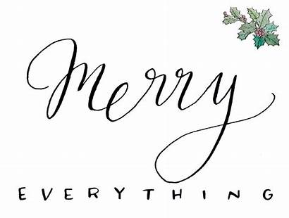 Printable Christmas Merry Everything Friends