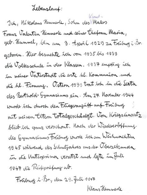 7 handschriftlicher lebenslauf muster 2013 kitsupport