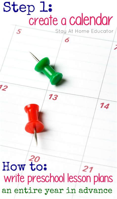 how to write preschool lesson plans step 1 create a 676   Step 1 in preschool lesson planning a year in advance create a calendar