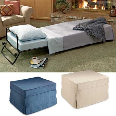 ottoman converts to a guest bed fold out ottoman bed cover
