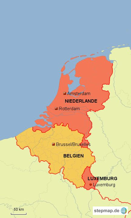 Sind Benelux Staaten by Stepmap Benelux Staaten Landkarte F 252 R Belgien