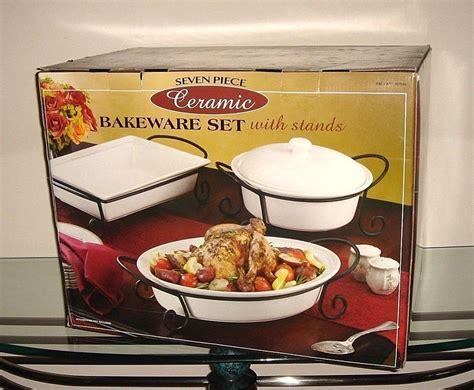 bakeware metal stands stoneware piece costco ceramic bake handles ceramics oven baking usa unbranded serve table