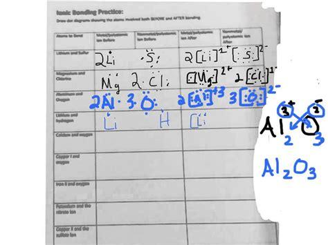 ionic bond worksheet worksheets for school getadating