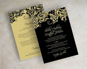 black white and gold wedding invitations With gold and white wedding invitations uk
