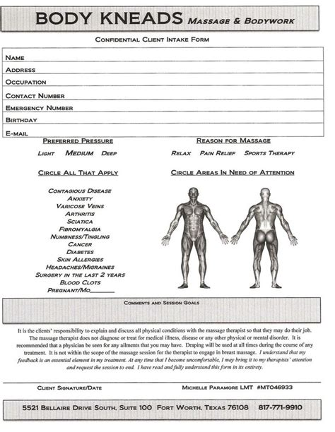 Personal Trainer Consultation Forms