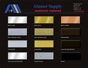 Metal Gauge Chart Alumet Anodized Finishes Color Chart By Alice Buchman