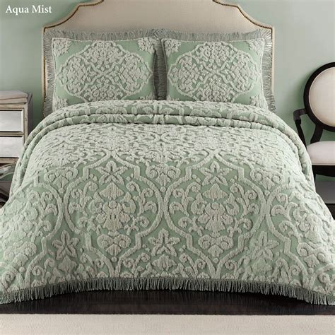 chenille bedspreads layla tufted brocade chenille bedspread bedding
