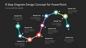 9 Step Colorful Snake Diagram For Powerpoint