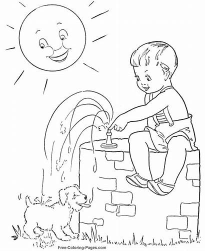 Coloring Pages Summer Water Season Sheets Printable