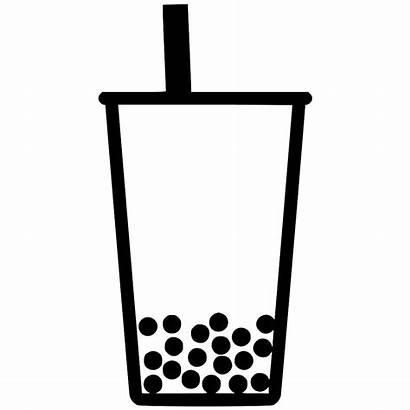 Tea Bubble Milk Svg Icon Clipart Cartoon
