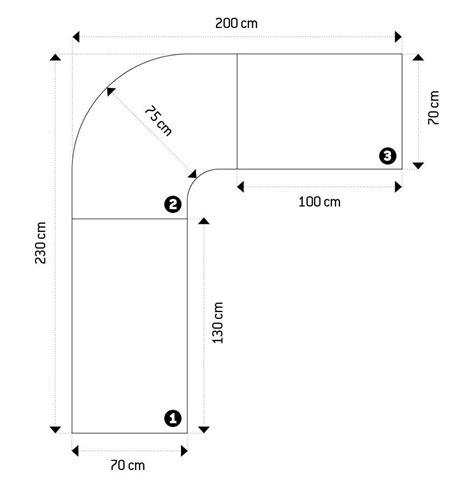 misure scrivania scrivania design angolare laccata gambe squadrate