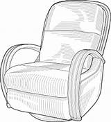 Chair Lounge Clip Clipart Clker Ocal Shared 2007 sketch template