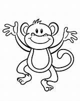 Coloring Monkey Vrolijk Aapje Leukekleurplaten Kleurplaat Cliparts Kleurplaten Affe Weiss Schwarz Clipart Kostenlos Mewarnai Gambar Aap Kleur Craftedhere Eendjes Afkomstig sketch template