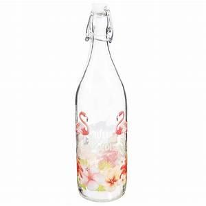 Bouteille Verre 1l : bouteille en verre 1l tropical paradise maisons du monde ~ Teatrodelosmanantiales.com Idées de Décoration