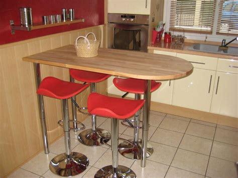 visuel table de bar pour cuisine