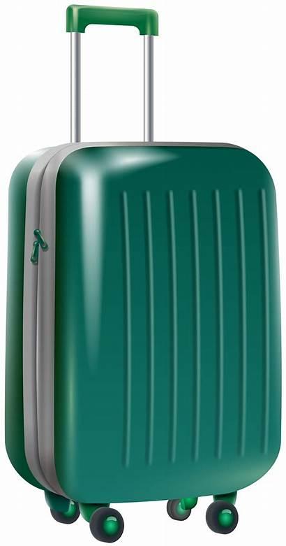 Bag Transparent Clip Travel Trolley Clipart Suitcases