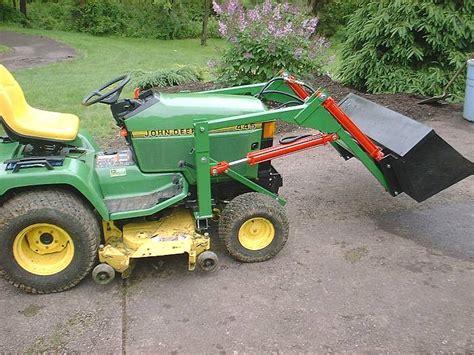 garden tractor loader home loaderplans 3734