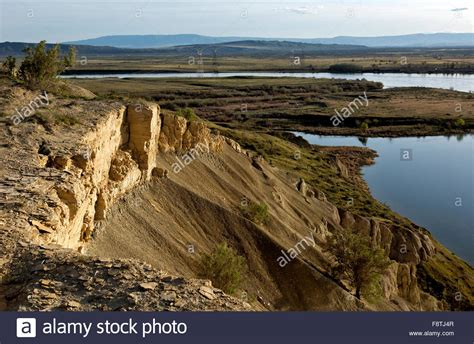 Columbia River Boat Launches by Columbia River White Bluffs Hanford Stock Photos