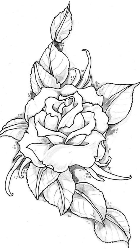 Pin by Kenzie Thompson on tattoos | Coloring pages, Rose tattoos, Drawings
