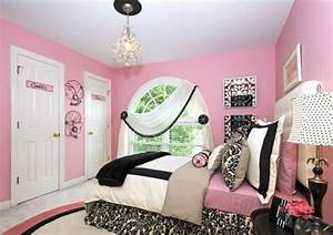 stylish girls pink bedrooms ideas With black white and pink bedroom