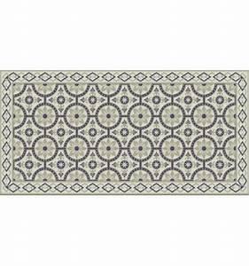 Tapis Pvc Carreaux De Ciment : tapis pvc carreaux ciment beige flora b amonstyle ~ Teatrodelosmanantiales.com Idées de Décoration