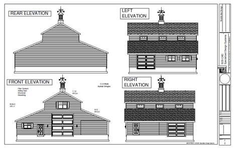 30'x60′ Pole Barn Blueprint